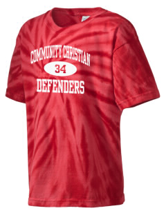 Community Christian Academy Defenders Kid's Tie-Dye T-Shirt