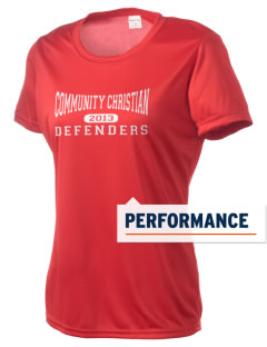 Community Christian Academy Defenders Women's Competitor Performance T-Shirt