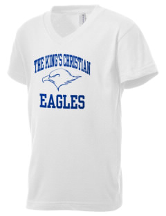 The King's Christian Academy Eagles Kid's V-Neck Jersey T-Shirt