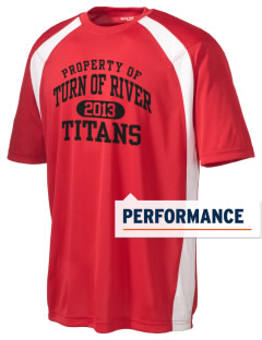 Turn Of River Middle School Titans Men's Dry Zone Colorblock T-Shirt