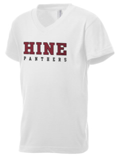 Hine Junior High School Panthers Kid's V-Neck Jersey T-Shirt
