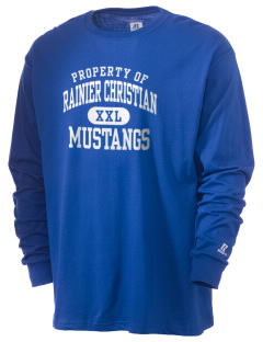 Rainier Christian Middle School Mustangs  Russell Men's Long Sleeve T-Shirt