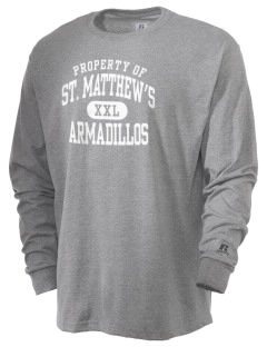 Saint Matthew's Episcopal School Armadillos  Russell Men's Long Sleeve T-Shirt