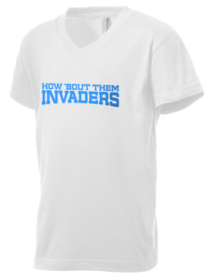 Summit High School Invaders Kid's V-Neck Jersey T-Shirt
