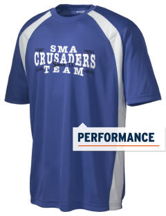 Sierra Madre Academy Crusaders Men's Dry Zone Colorblock T-Shirt