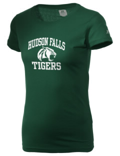 Hudson Falls Central School Tigers  Russell Women's Campus T-Shirt