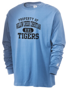 Willow Creek Christian School Tigers  Russell Men's Long Sleeve T-Shirt