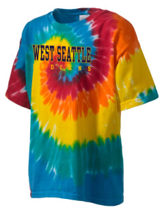 West Seattle High School Indians Kid's Tie-Dye T-Shirt
