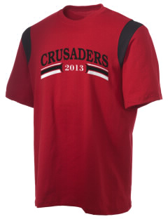 Village Christian Schools Crusaders Holloway Men's Rush T-Shirt