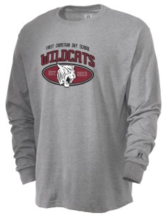 First Christian Day School Wildcats  Russell Men's Long Sleeve T-Shirt