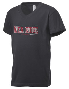 Wea Ridge Middle School Huskies Kid's V-Neck Jersey T-Shirt