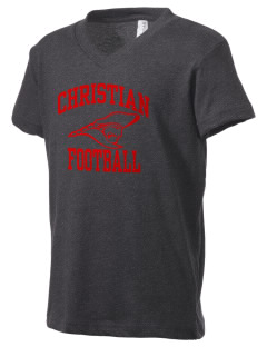 Christian Senior High School Patriots Kid's V-Neck Jersey T-Shirt