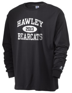 Hawley Middle School Bearcats  Russell Men's Long Sleeve T-Shirt