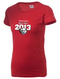 Carrizozo High School Grizzlies  Russell Women's Campus T-Shirt