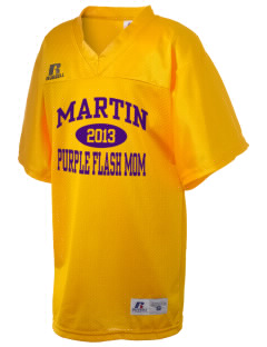 Martin High School Purple Flash Russell Kid's Replica Football Jersey