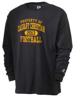 Calvary Christian School Cougars  Russell Men's Long Sleeve T-Shirt