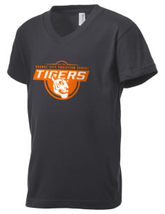 Orange City Christian School Tigers Kid's V-Neck Jersey T-Shirt