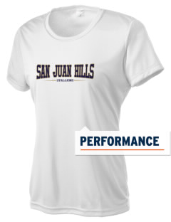 San Juan Hills High School Stallions Women's Competitor Performance T-Shirt