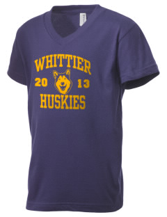 Whittier Elementary School Huskies Kid's V-Neck Jersey T-Shirt