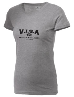V.I.S.A White Tiger  Russell Women's Campus T-Shirt