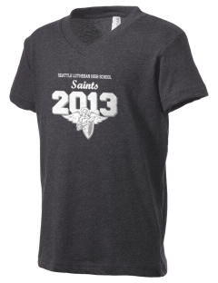 Seattle Lutheran High School Saints Kid's V-Neck Jersey T-Shirt