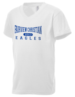 Fairview Christian School Eagles Kid's V-Neck Jersey T-Shirt
