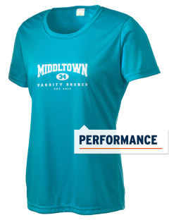 Middltown Middle School bronco Women's Competitor Performance T-Shirt
