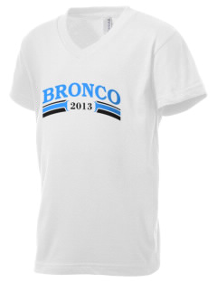 Middltown Middle School bronco Kid's V-Neck Jersey T-Shirt