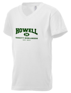 Howell High School Highlanders Kid's V-Neck Jersey T-Shirt
