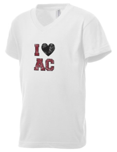 Amos Comenius Memorial School  Kid's V-Neck Jersey T-Shirt