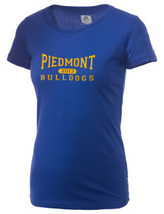 Piedmont High School Bulldogs  Russell Women's Campus T-Shirt