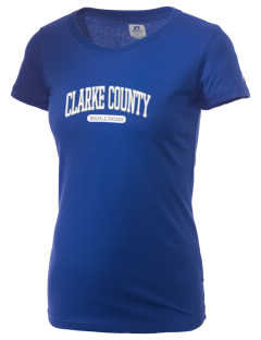 Clarke County High School Bulldogs  Russell Women's Campus T-Shirt