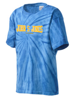 John S Jones Elementary School Little Children Kid's Tie-Dye T-Shirt