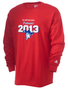 Bob Jones High School Patriots  Russell Men's Long Sleeve T-Shirt