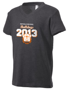 Montevallo High School Bulldogs Kid's V-Neck Jersey T-Shirt
