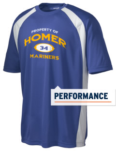 Homer High School Mariners Men's Dry Zone Colorblock T-Shirt