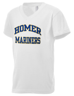 Homer High School Mariners Kid's V-Neck Jersey T-Shirt