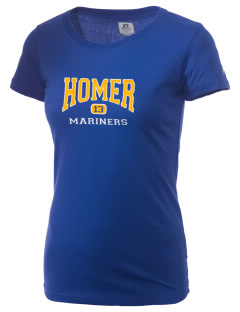 Homer High School Mariners  Russell Women's Campus T-Shirt