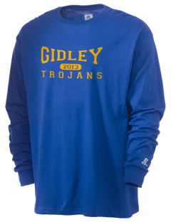 Gidley Elementary School Trojans  Russell Men's Long Sleeve T-Shirt