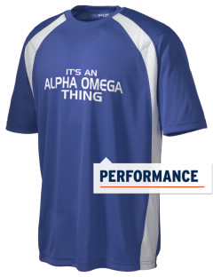 Alpha Omega Academy We don't have one.  We have a logo Men's Dry Zone Colorblock T-Shirt