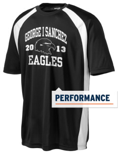 George I Sanchez Elementary School Eagles Men's Dry Zone Colorblock T-Shirt