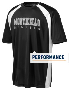 Monticello High School Billies Men's Dry Zone Colorblock T-Shirt