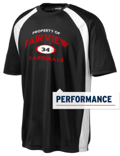 Fairview Middle School Cardinals Men's Dry Zone Colorblock T-Shirt