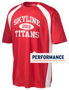 Skyline High School Titans Men's Dry Zone Colorblock T-Shirt