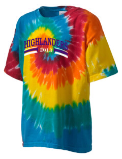 Beach Elementary School Highlanders Kid's Tie-Dye T-Shirt