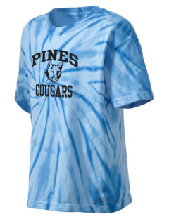Pines Elementary School Cougars Kid's Tie-Dye T-Shirt