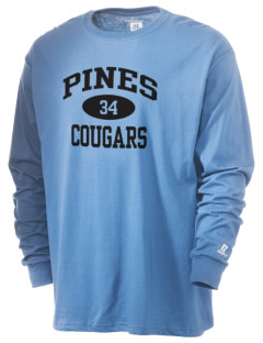 Pines Elementary School Cougars  Russell Men's Long Sleeve T-Shirt