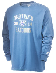 Forest Ranch Elementary School Raccoons  Russell Men's Long Sleeve T-Shirt