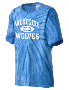 Woodside Elementary School Wolves Kid's Tie-Dye T-Shirt