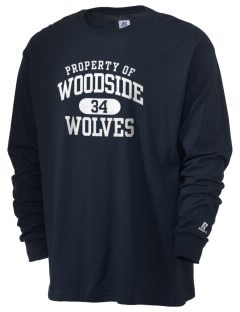 Woodside Elementary School Wolves  Russell Men's Long Sleeve T-Shirt